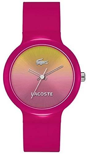 Lacoste GOA - Reloj para mujer, con correa de plástico, de color
