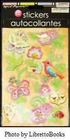 Special Moments Handmade Autocollantes butterfly, bird and flower stickers
