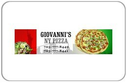 Giovanni's NY Pizza Gift Card - Stores Leesburg
