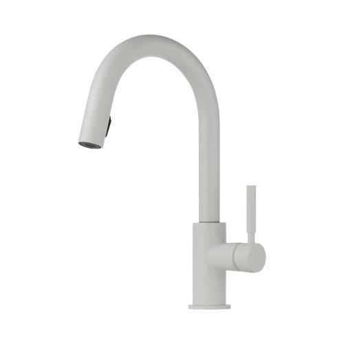Brizo Lf Mw Solna Kitchen Faucet With Pullout Spray Matte White