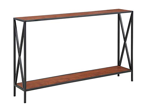 Convenience Concepts Tucson Collection, Console Table, Cherry & Black (Furniture Slim)
