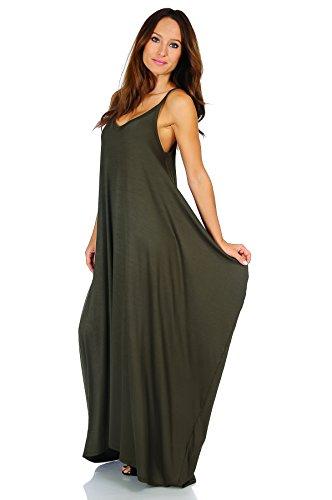 Span olive Various Ad1072 Size Boho Dress Ravishing Style Harem Simply 5X Rayon Maxi Small HEZnax