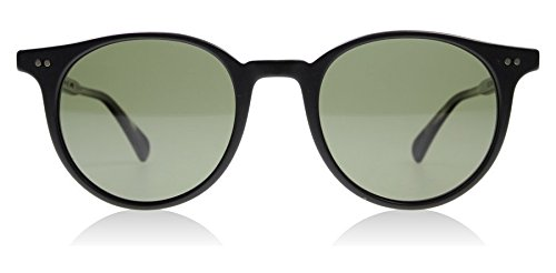 Oliver Peoples 5314SU 1465P1 Matte Black Delray Sun Round Sunglasses - Peoples Round Sunglasses Oliver