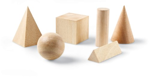 Learning Resources Basic Geometric Solids, 6 pieces Basic Geometric Solids Set