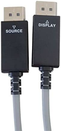 C2G 29535 Displayport Active Optical Cable 25 Feet, 7.62 Meters AOC Plenum CMP Rated Gray 4K UHD Compatible