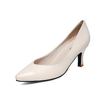cm Chaussures Automne 12 Talons plus Chaussures amp; black Printemps ggx Similicuir à Blanc Chaussures Talon Femme formelles LvYuan Gros Noir formelles aTqzvI