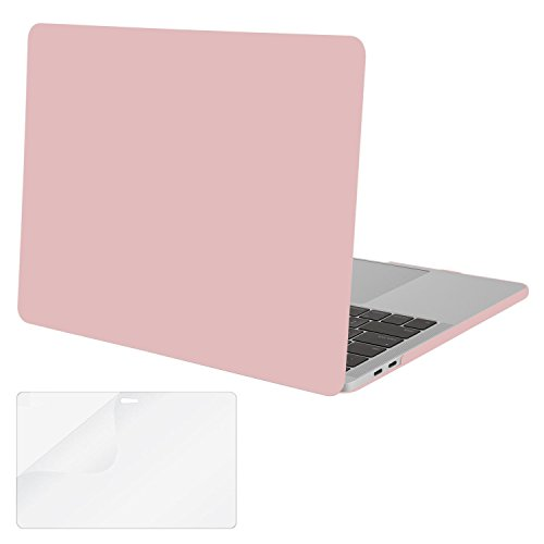Mosiso Plastic Hard Case with Screen Protector for Newest MacBook Pro Retina 15 Inch (A1707 with Touch Bar, Release Oct 2016), Rose Quartz