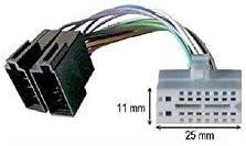 16 pin Cavo adattatore connettore ISO per autoradio CLARION//VDO