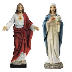 - Veronese Collection Sacred Heart & Immaculate Heart 10 Inch Statue Set