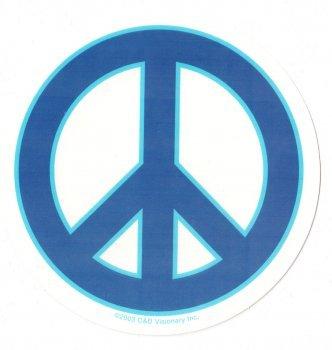 Aufkleber Peace Zeichen blau Sticker Nr 1963 Amazonde Sport