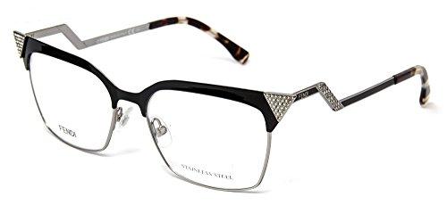 FENDI Eyeglasses 0061 0Mtb Black Ruthenium 53MM