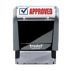 (Trodat Printy 65% Recycled 4912 Self-Inking Message Stamp, Approved)