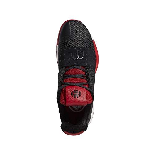 adidas Men's Harden Vol. 3 Basketball Shoes (9.5, Black/Red)