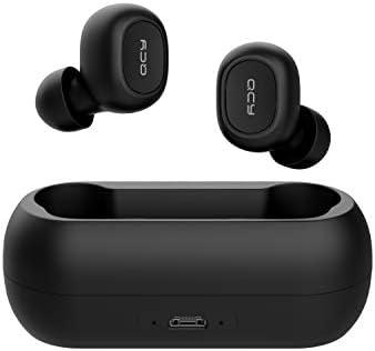 QCY T1 - Auriculares Deportivos Bluetooth 5.0 (batería de 20 Horas, inalámbricos, para iPhone Android con batería Potente, Impermeables IPX4 y micrófono)