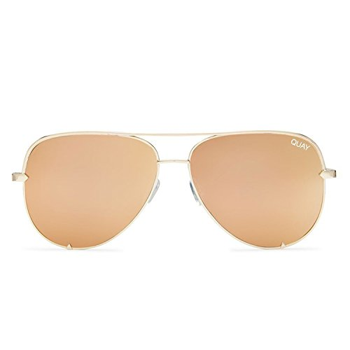 Quay Australia HIGH KEY Women's Sunglasses Classic Oversized Aviator - - Parts To Sunglasses