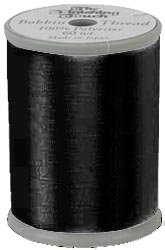 The Finishing Touch Embroidery & Sewing Bobbin Thread 1200yds. 100% Polyester 60wt. Black 5 Spools