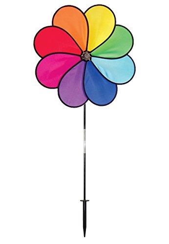 In the Breeze Rainbow Dazy 8-Petal Garden Spinner