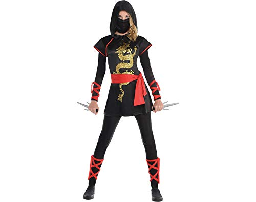 AMSCAN Ultimate Ninja Halloween Costume for Teen Girls, Adult Large with Included Accessories