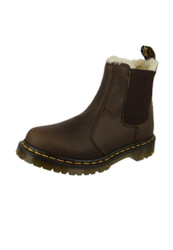 Dr. Martens LEONORE Burn. Wyoming Damen Chelsea Boots Braun (dark brwon/burnished wyoming)
