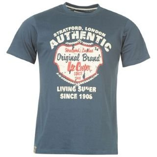 lee cooper fashion t shirt mens vintage blue large clothing. Black Bedroom Furniture Sets. Home Design Ideas