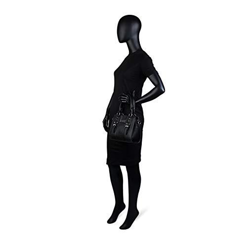 à Sac Argenté L pour Femme Main Noir Métal Lois xzXqwx