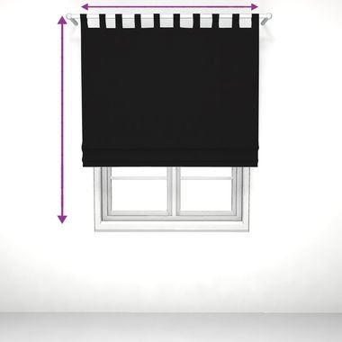 saustark design roman blind with loops in by manchen munich black ikea