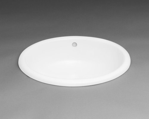 Oval Ceramic Drop-in Bathroom Sink in White (Oval Ronbow Ceramic)