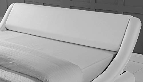 Bedroom Amolife Upholstered Platform Bed King/Deluxe Solid Modern Bed Frame/Mattress Foundation/Faux Leather King Size Bed Frame… modern beds and bed frames