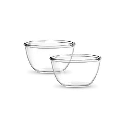 Treo Mixing Bowls 2Pieces Set (500) - TRANSPARENT(EC-GWF-FGB�