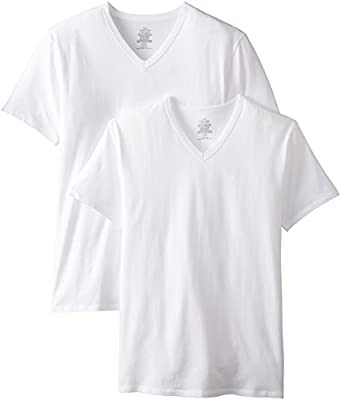 Calvin Klein Men's 2-Pack Cotton Stretch V-Neck T-Shirt