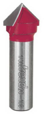 Freud 20-108 V-Grooving Router Bit, 3/4-Inch 90-Degree from Freud
