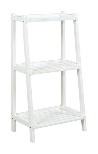 New Ridge Home Goods Dunnsville 3-Tier Ladder Shelf, White