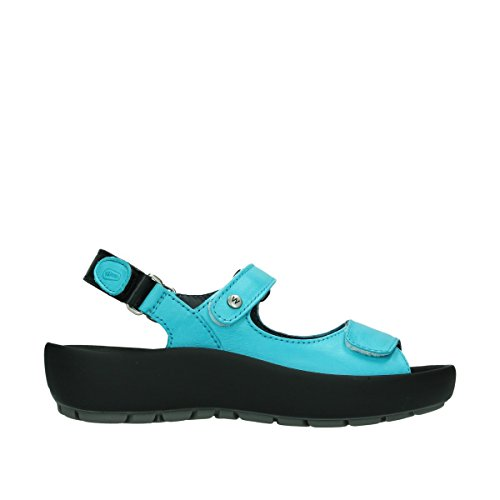 Sandals Womens Leder Rio Türkis Wolky Blue 3325 276 Leather 1RqIvA