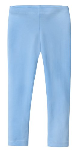 City Threads Girls' Leggings 100% Cotton for School or Play Perfect for Sensitive Skin or SPD Sensory Friendly Clothing, Bright Lt. Blue, 6