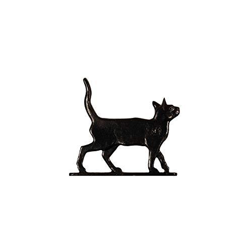 Cat Standing Weathervane Rooftop Black
