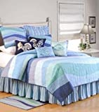 C&F Home Ocean Wave Collection Queen Quilt, 90 by 92-Inch