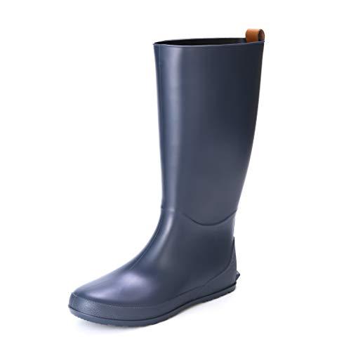 Picture of Women's Tall Rain Boots Flat Heel Lightweight Farm Boot Waterproof Garden Shoes