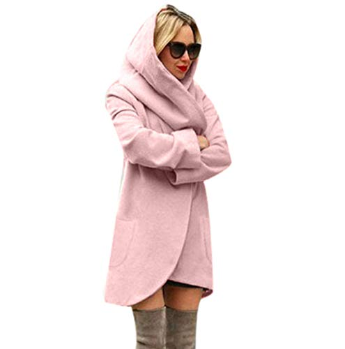 Di Le Signore Irregular Clearance Hoodies Casuali Giacca Spazio Ladies Woolen Jacket Loose Coat Hoodies Casual Thin Women Autumn Overcoat Lana Donne Top Tuduz Pink Tuduz Allentato Autunno Rosa Sottile Top Irregolare Cappotto Incappucciati Hooded Cappotto OgHwOTq