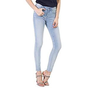 D-ID Women's Skinny Jeans Skinny Ankle Mid Rise Jean Original Fit Jeans 220