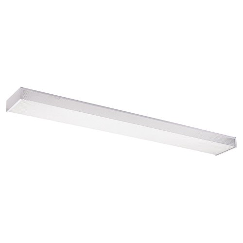 Sea Gull Lighting 59132LE15 2-Light Flush Mount, White Finish with Clear Acrylic (Light Bath Bar Drop)