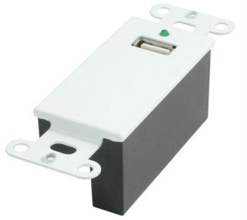 C2G 29342 USB 1.1 Over CAt5 Superbooster Extender Wall Plate Kit, White