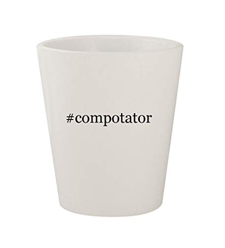 #compotator - Ceramic White Hashtag 1.5oz Shot Glass