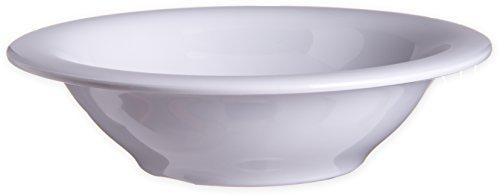 Carlisle 4303602 Durus Rimmed Melamine Bowl, 13 Oz., White (Pack of 24) by Carlisle