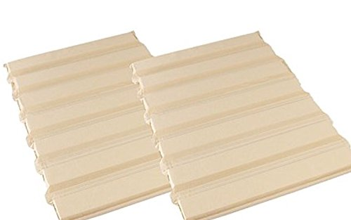 Under Mattress Support - Fix Your Sagging Mattress with Mattress Helper Firmer Solution for Mattresses - Full Coverage 2 Pack (King) (8 Design Straight Slat)