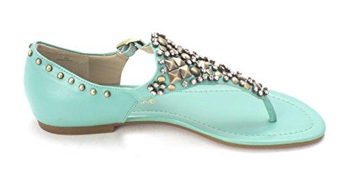 Circa Joan & David Womens KAYCIA Open Toe Casual Turquoise Sy oTvmc