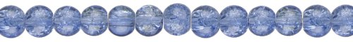 (Beyond Beautiful Classic Beads Round 6mm 85/Pkg-Cracked Blue)