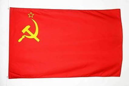 AZ FLAG Bandera de la URSS 150x90cm - Bandera ROJA - Comunista – SOVIÉTICA - Rusia 90 x 150 cm poliéster Ligero: Amazon.es: Jardín