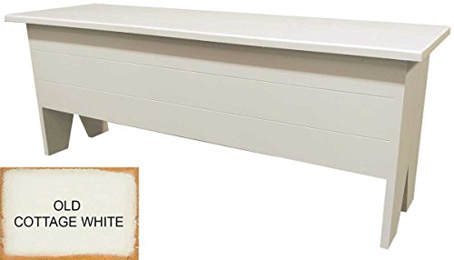 Sawdust City Wooden Storage Bench 4' Long (Old Cottage White)