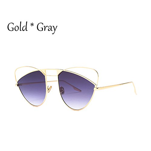 Sol Grande Hueco Señoras Gray Mujer Gato Gafas De Naranja Uv Lujo TIANLIANG04 De Gafas Rosa Gafas De Sombras De Gold Bastidor Gradiente Sexy C4 Ojo C1 0Tqnx7z