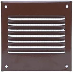 100x100mm Grille da/ération Marron m/étallique avec moustiquaire Grille de ventilation